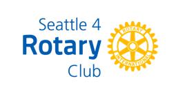 Seattle 4 Rotary Club logo.